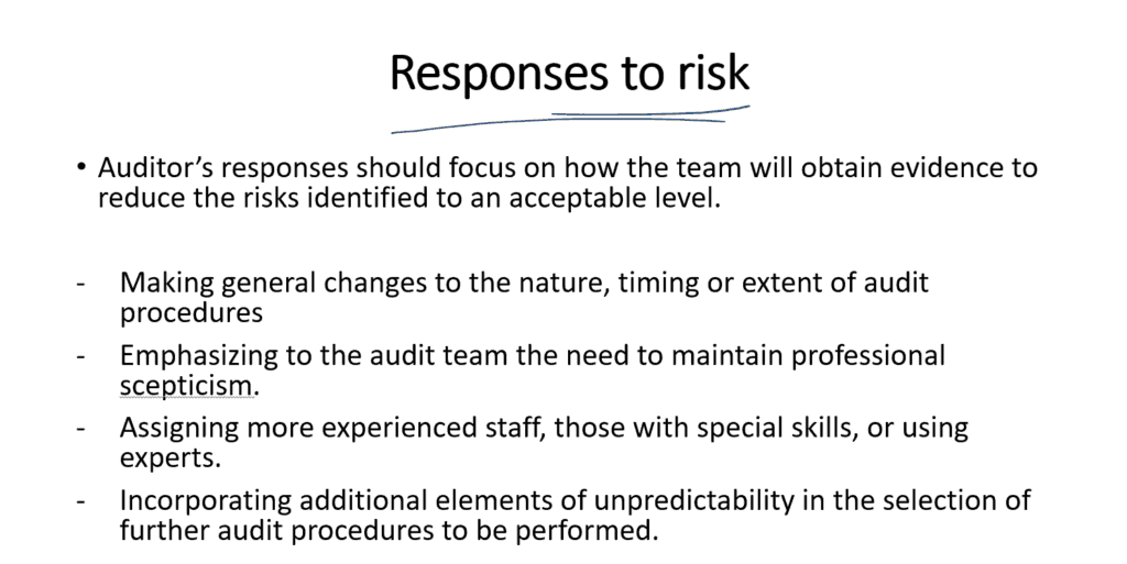 Responses to risk