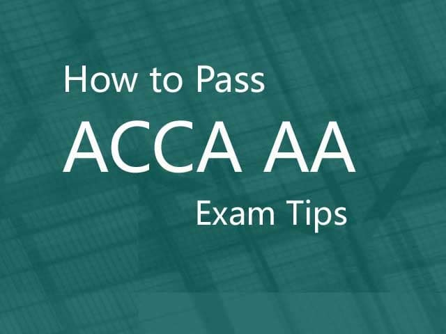 How to pass ACCA AA