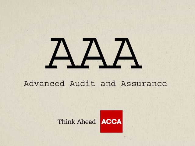 ACCA Advanced Audit and Assurance AAA