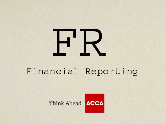 ACCA Financial Reporting FR F7