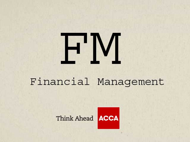 ACCA Financial Management FM F9