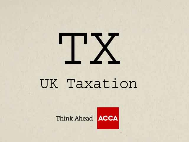 ACCA UK Taxation TX F6