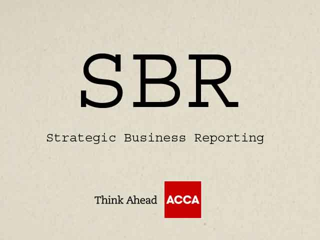 ACCA Strategic Business Reporting SBR P2