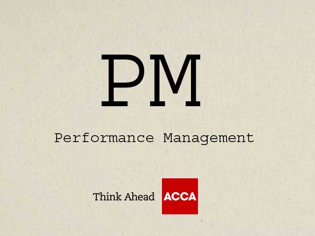 ACCA Performance Management PM F5