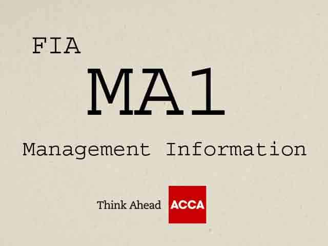 ACCA FIA MA1 Management Information