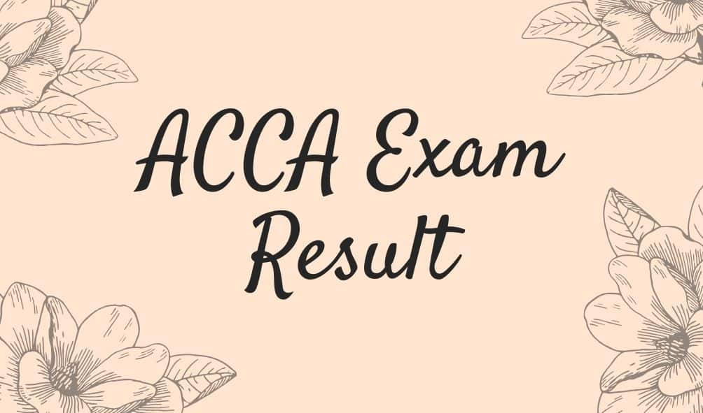 ACCA Exam Result